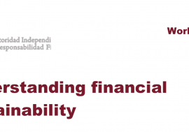 Working Paper No. 1/2014: Understand the financial sustainability