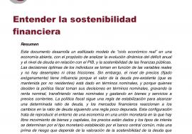 Documento de Trabajo nº1/2014: Entender la sostenibilidad financiera
