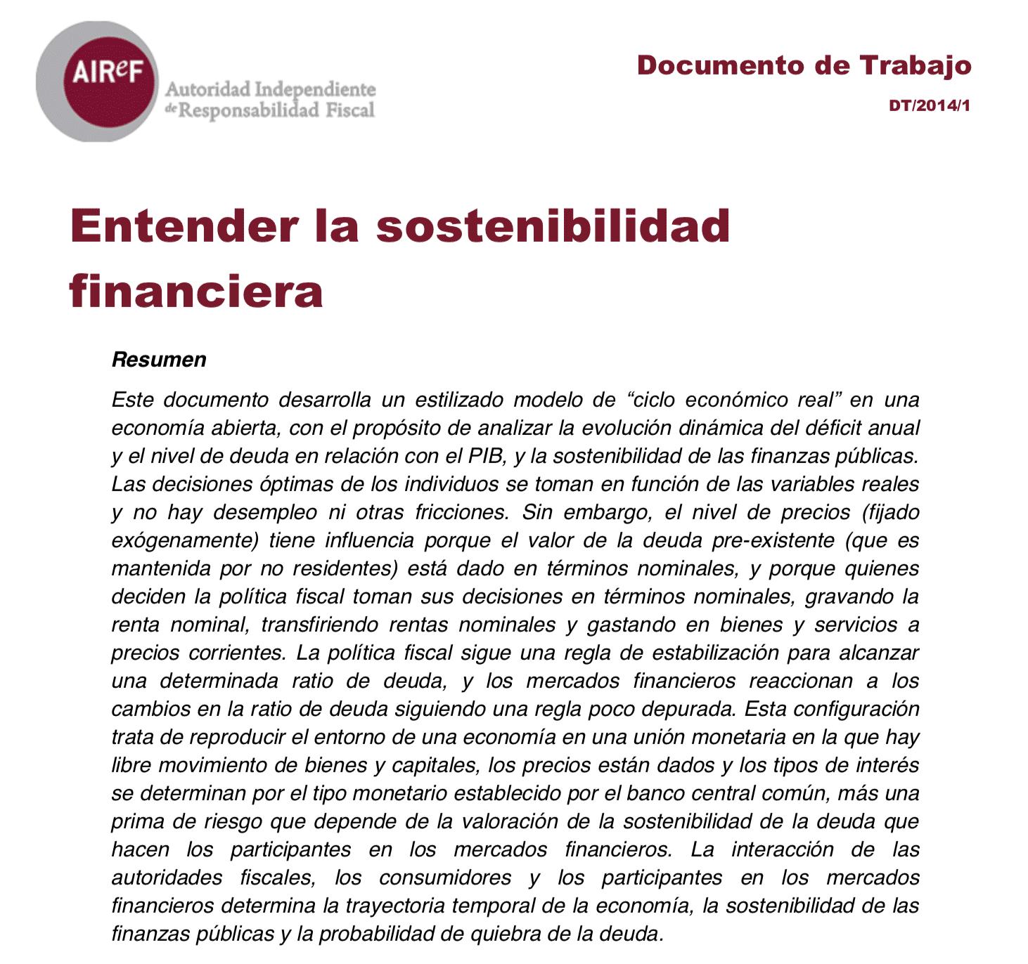 Entender la sostenibilidad financiera