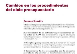Opinión sobre cambios en los procedimientos del ciclo presupuestario