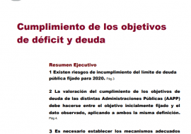 Opinión sobre Cumplimiento de los objetivos de déficit y deuda