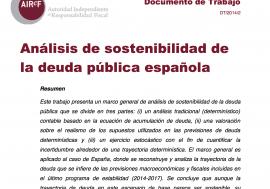 Documento de Trabajo 2/2014 Análisis de sostenibilidad de la deuda pública española