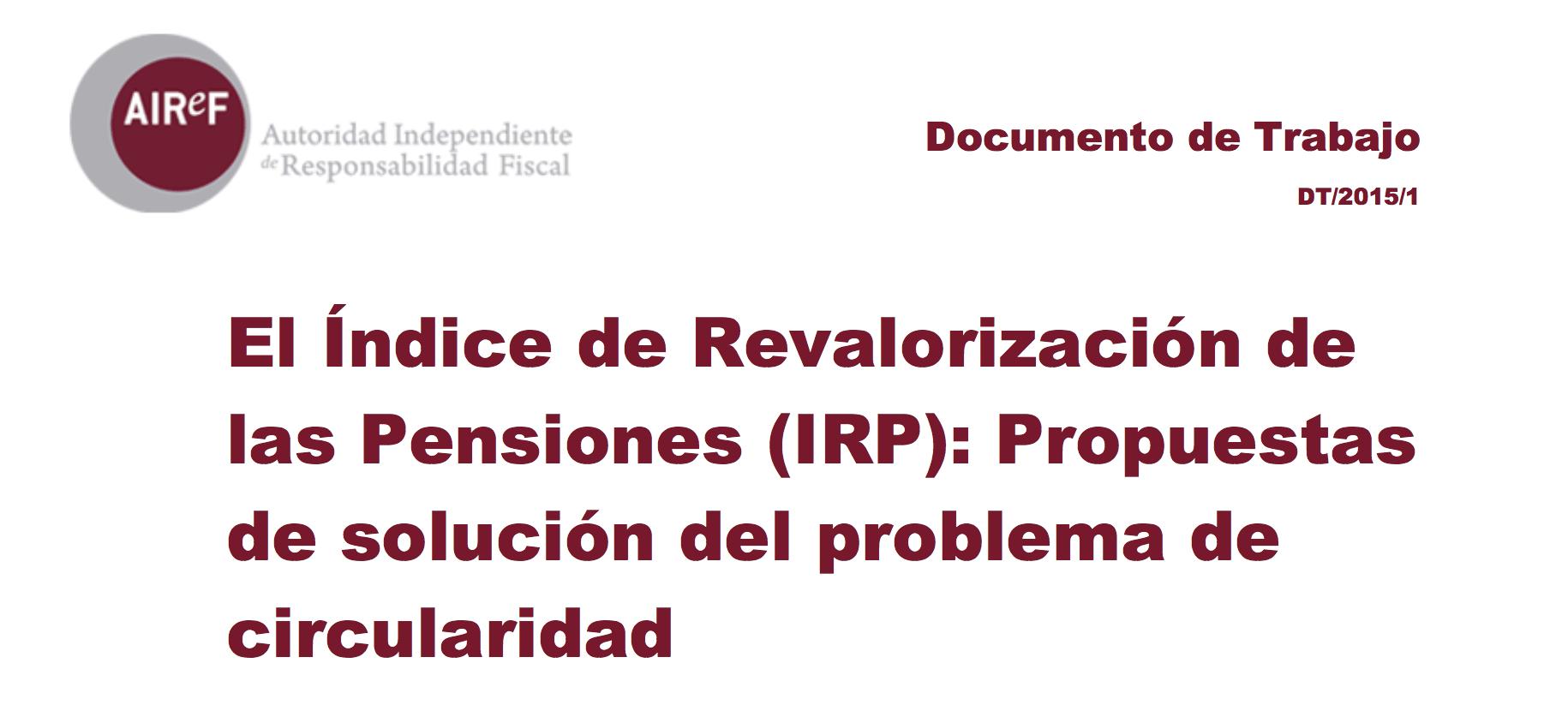 El índice de revalorización de las pensiones (IRP)