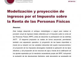 Documento de Trabajo 2/2015 Modelización y proyección de ingresos por el Impuesto sobre la Renta de las Personas Físicas