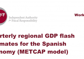 Working Paper 3/ 2015: Quarterly regional GDP flash estimates for the Spanish economy (METCAP model)