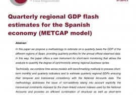 Documento de Trabajo 3/ 2015: Estimaciones adelantadas del PIB regional trimestral para la economía española (modelo MetCap)