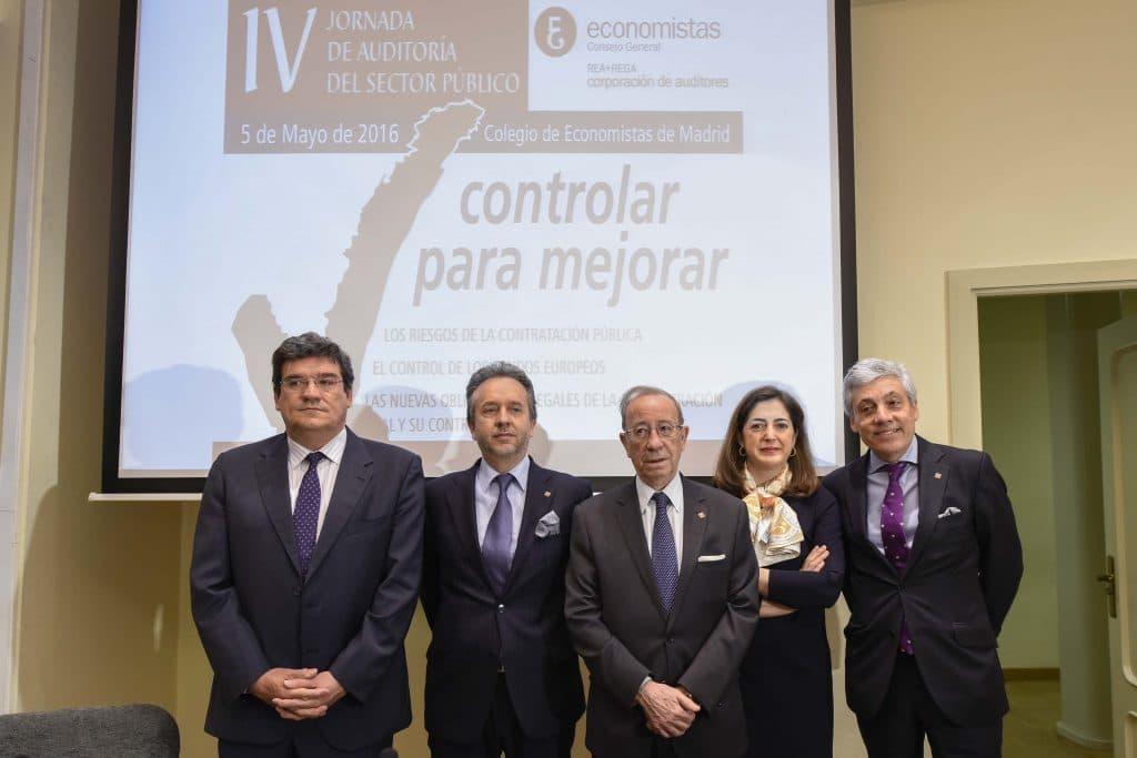 José Luis Escrivá, presidente de la AIReF, durante la IV Jornada de Auditoría del Sector Público