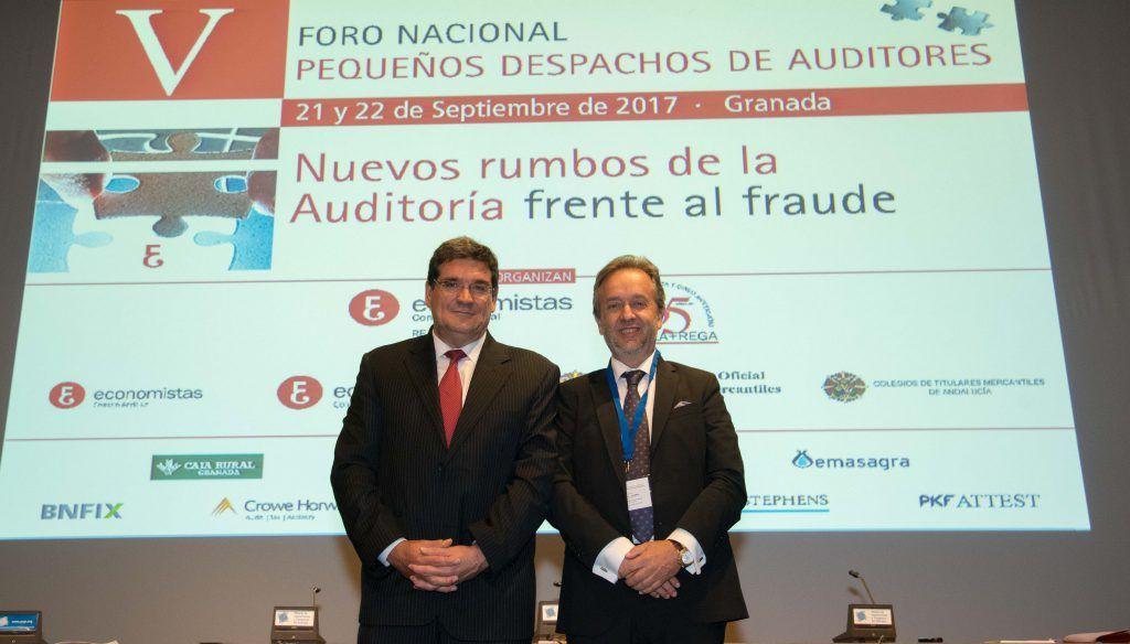 José Luis Escrivá, presidente de la AIReF, en el V Foro Nacional de Pequeños Despachos de Auditores