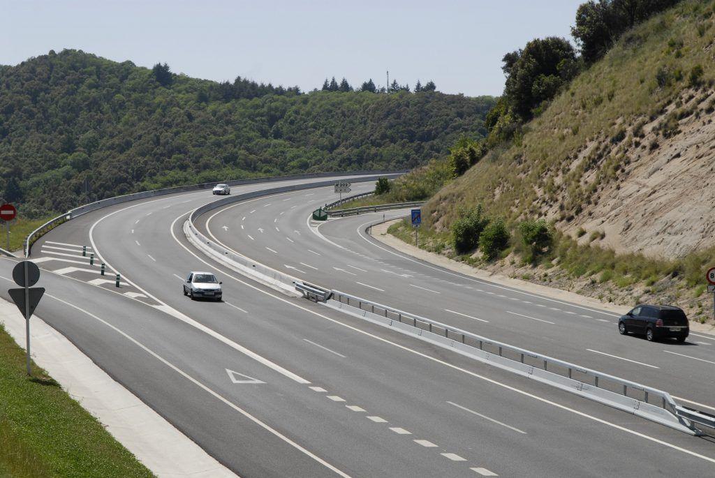 Una carretera de Cataluña.