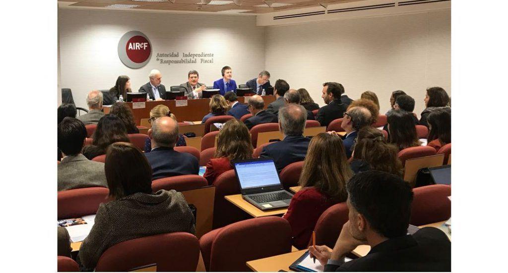 Rueda de prensa de la AIReF para presentar el estudio de evaluación externa de la institución realizado por el organismo internacional