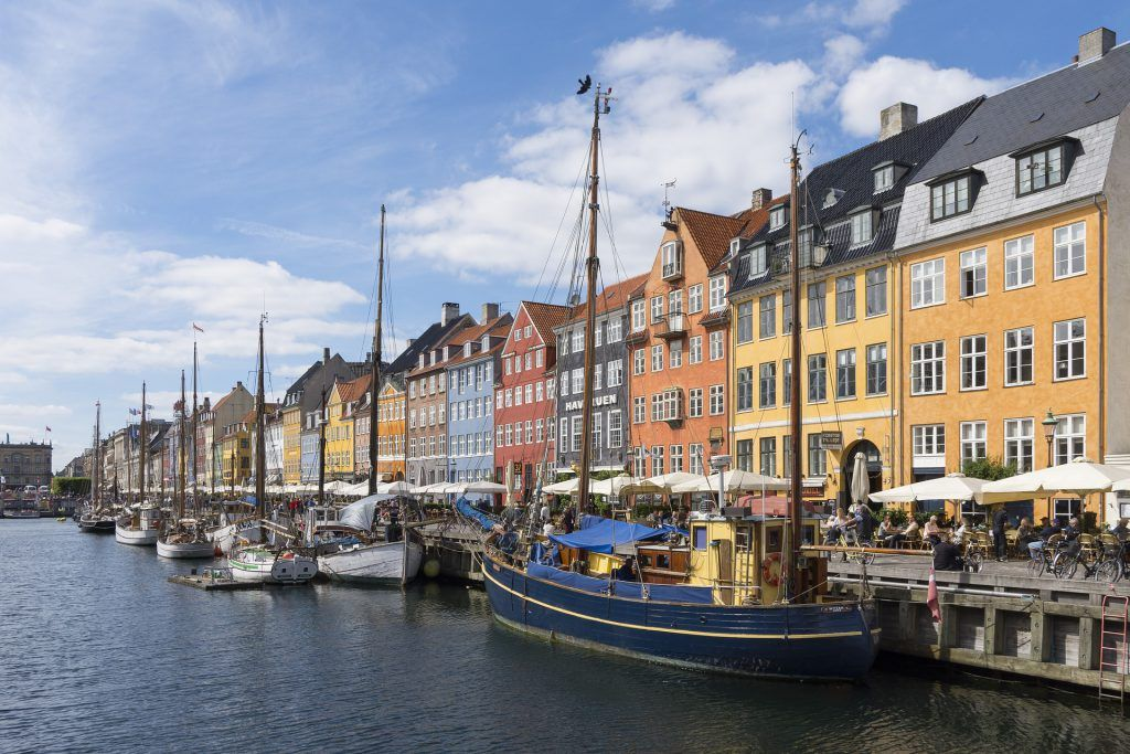 Copenhague, capital de Dinamarca.