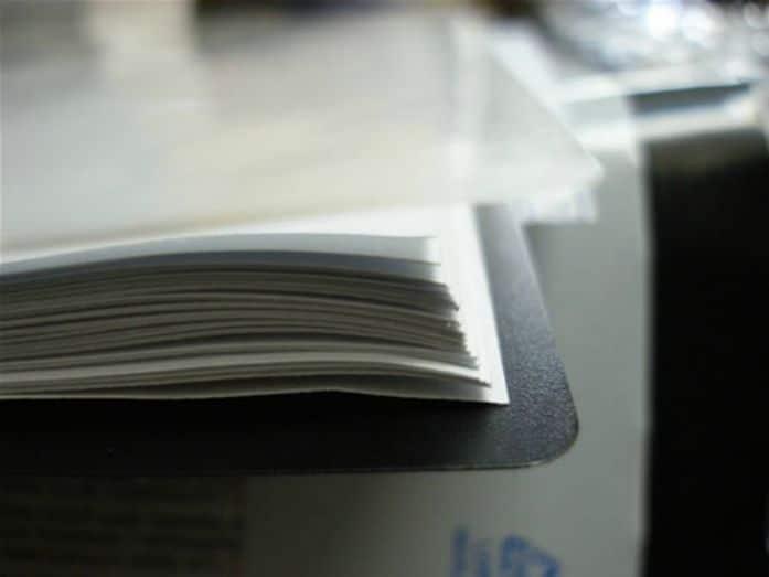Folios pertenecientes a un informe