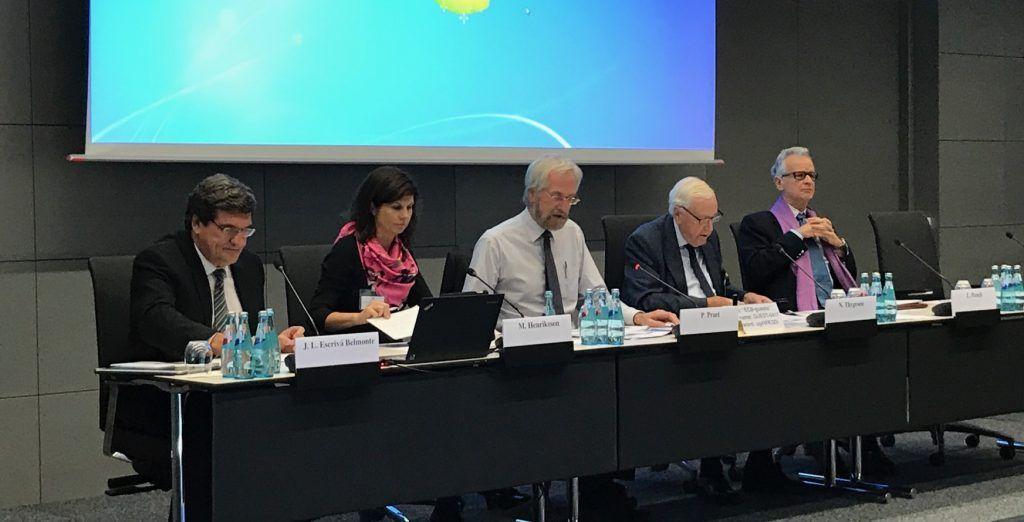 José Luis Escrivá, presidente de la AIReF, durante unas jornadas del Banco Central Europeo