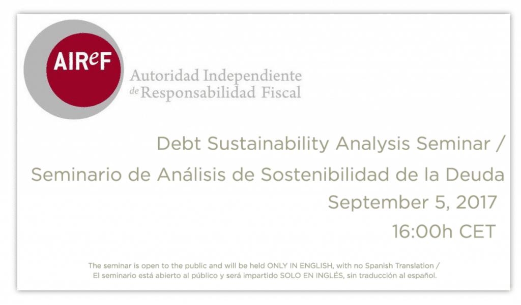 Presentación del seminario de Análisis de Sostenibilidad de la Deuda