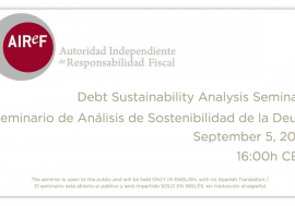 Public debt sustainability seminar organized by AIReF