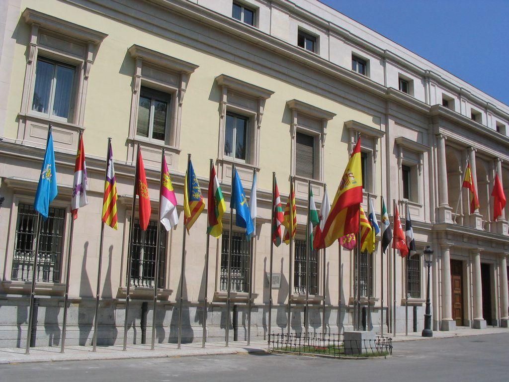 Exteriores del Senado español.