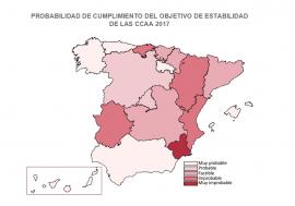 La AIReF publica informes individuales sobre el cumplimiento esperado de los objetivos de estabilidad de las 17 CCAA