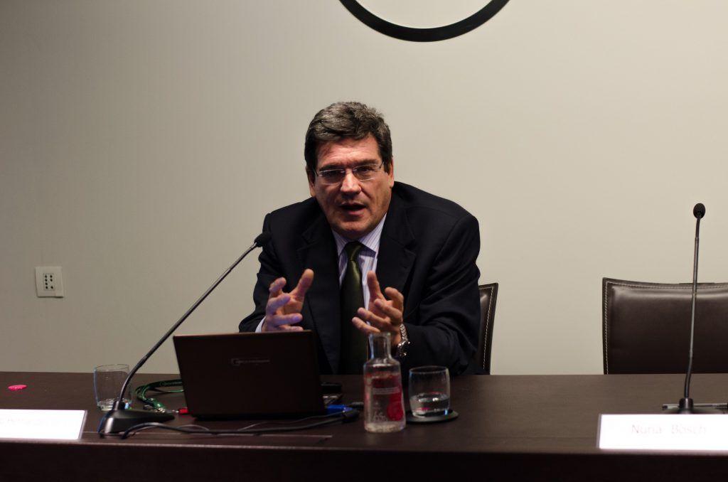 José Luis Escrivá, presidente de la AIReF, en el Cercle d'Economia de Barcelona