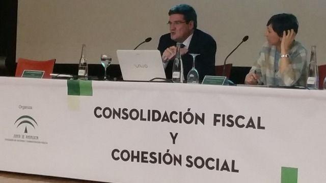 José Luis Escrivá, presidente de la AIReF, en Sevilla.