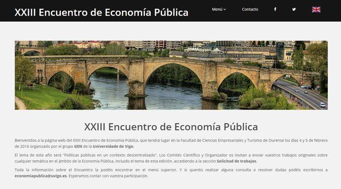Portada del XXIII Encuentro de Economía Pública