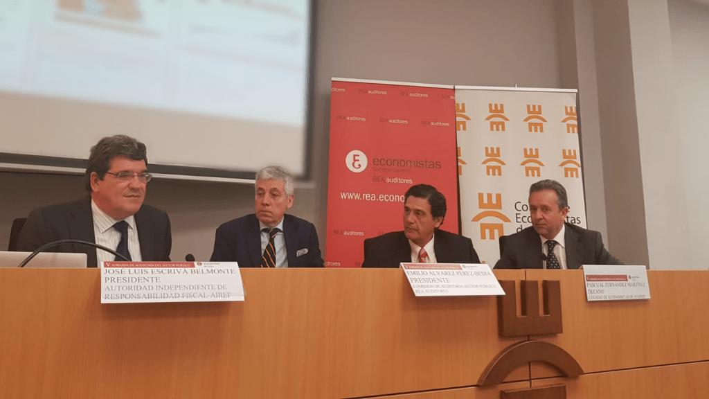 José Luis Escrivá, presidente de la AIReF, en la V Jornada de Auditoría del Sector Público organizada por el Consejo General de Economistas