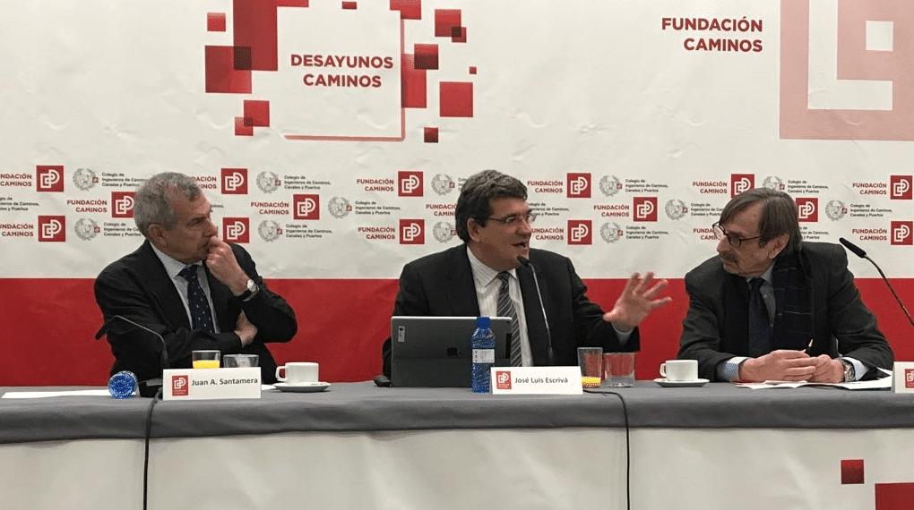 José Luis Escrivá, presidente de la AIReF, participa en el Ciclo con las Instituciones de Regulación del Colegio Superior de Ingenieros de Caminos