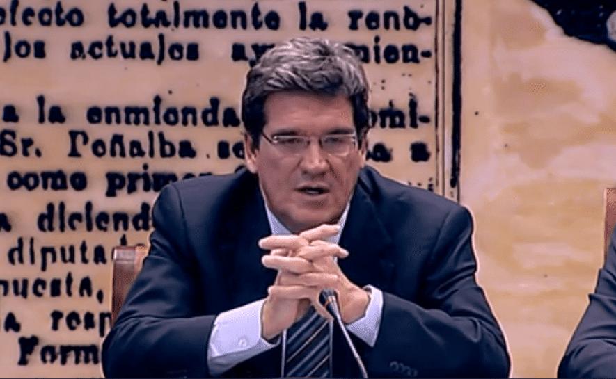 José Luis Escrivá, presidente de la AIReF, en el Senado.