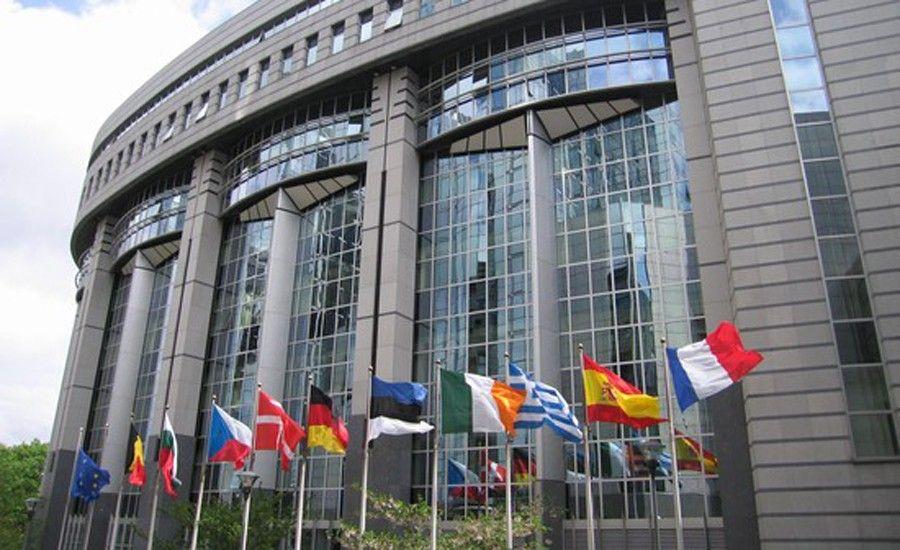 Exteriores del Parlamento europeo, en Bruselas.