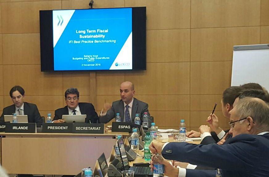 José Luis Escrivá, presidente de la AIReF, durante la reunión de la Red de Instituciones Fiscales Independientes de la UE
