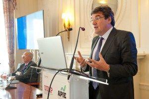 José Luis Escrivá, presidente de la AIReF, durante su discurso