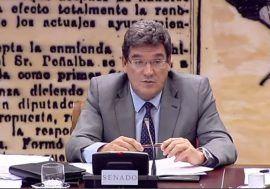 José Luis Escrivá comparece ante la Comisión de Presupuestos del Senado