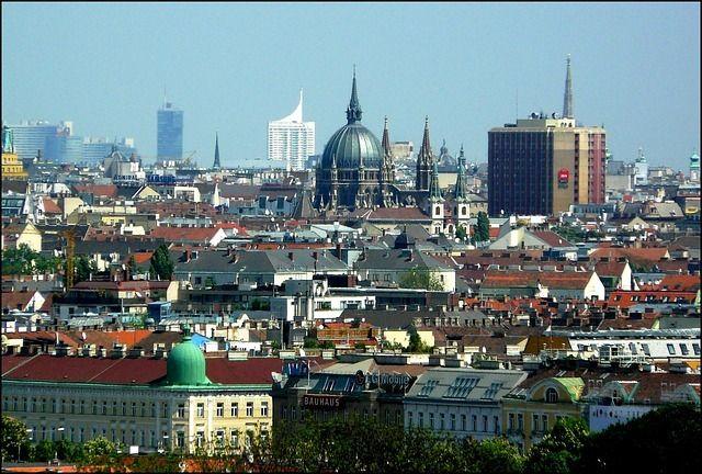 Vista de la ciudad de Viena.