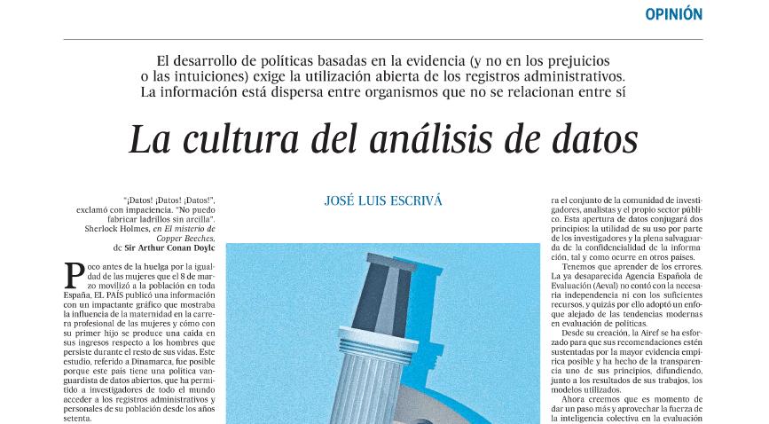 Captura de el artículo escrito por José Luis Escrivá, presidente de la AIReF