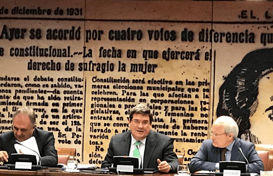 José Luis Escrivá, presidente de la AIReF, en el Senado