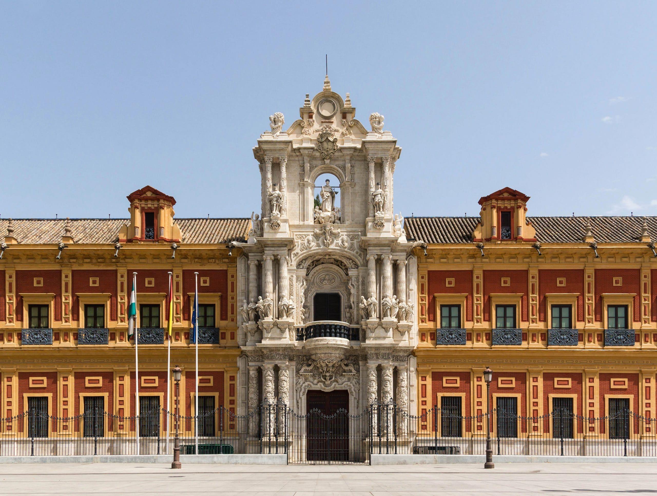 El Palacio de San Telmo, sede de la Presidencia de la Junta de Andalucía