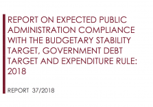 Report on expected Public Administration compliance with the budgetary stability target, government debt target and expenditure rule: 2018