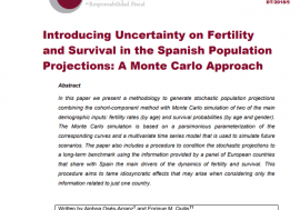 Working Paper 6/2018. Introducing Uncertainty on Fertility and Survival in the Spanish Population Projections: A Monte Carlo Approach