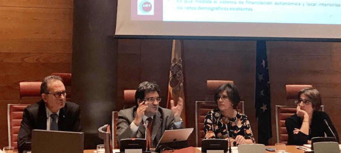 José Luis Escrivá comparece en el Senado para analizar los retos demográficos que afronta España