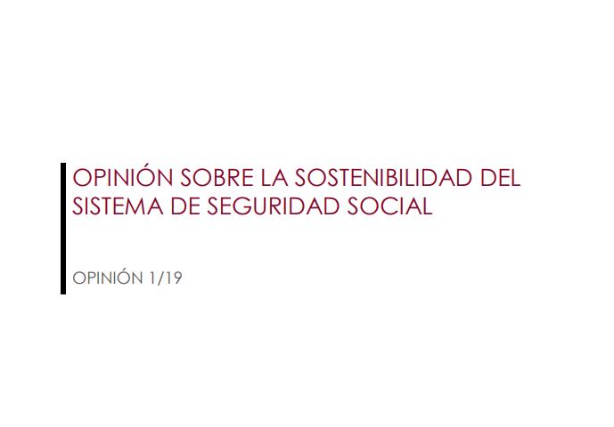 Opinión sobre la sostenibilidad de la seguridad social