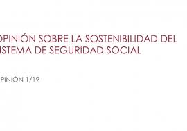 Acceso a la Opinión sobre la sostenibilidad de la Seguridad Social
