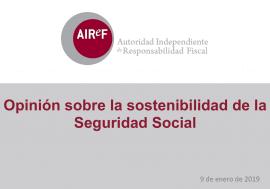 Acceso a la Presentación de la Opinión sobre la sostenibilidad de la Seguridad Social