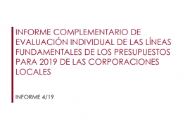 Acceso al Informe de Evaluación individual de las líneas fundamentales de los Presupuestos para 2019 de las Corporaciones Locales