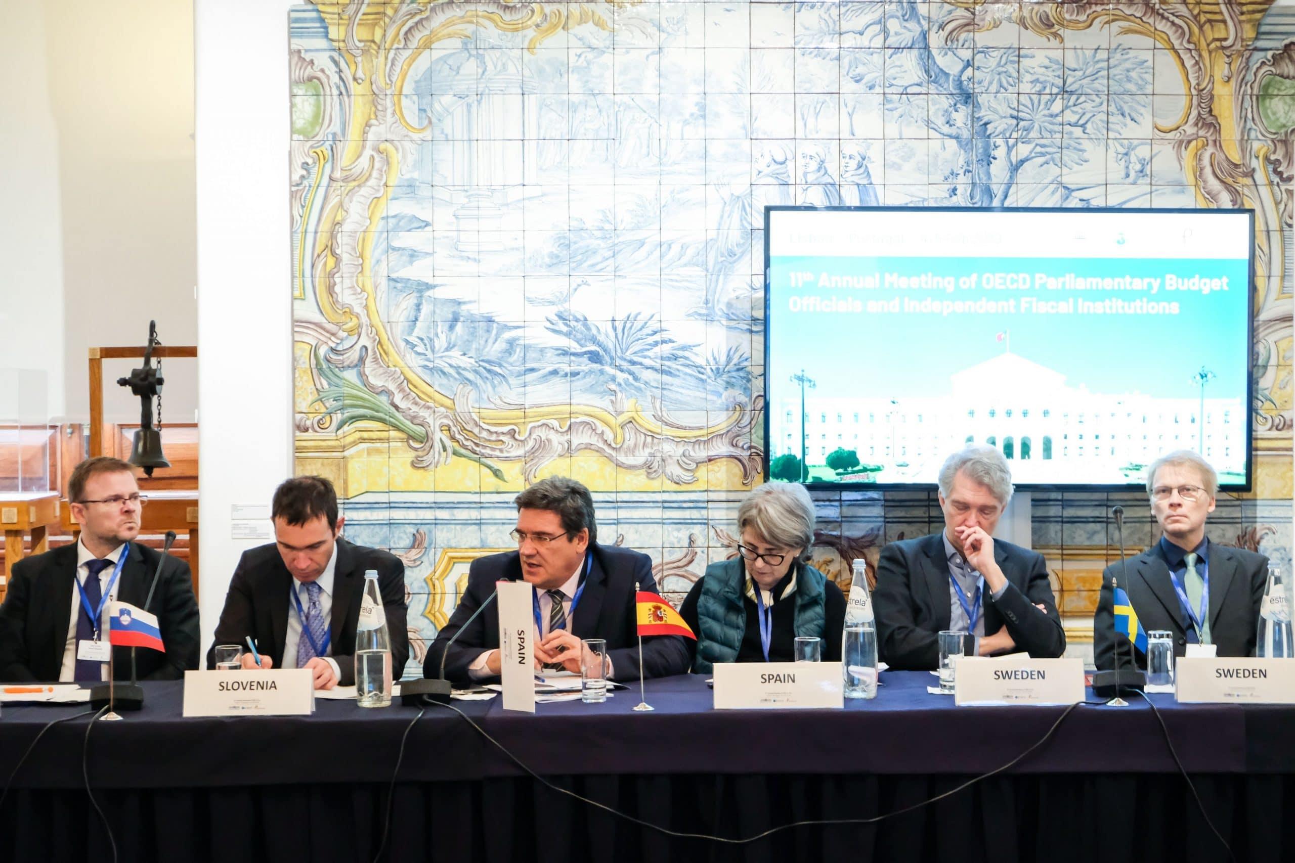 José Luis Escrivá, presidente de la AIReF, en la reunión de la Red de Oficinas Parlamentarias Presupuestarias e Instituciones Fiscales Independientes de la OCDE