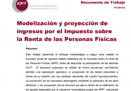 Working Paper 2/2015 Personal Income Tax: Modeling and Forecasting. Only available in Spanish