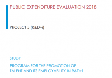 Access to the Study 5: Program for the Promotion of Talent and its employability in R&D+i
