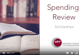 Access to the video of the Study 4: Scholarships