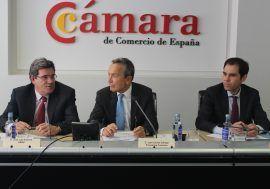José Luis Escrivá analiza la situación y perspectivas de la economía española en la Cámara de Comercio de España