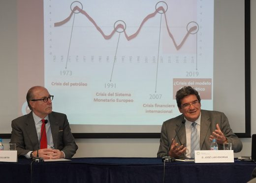 José Luis Escriva analyzes the economic situation in a meeting organized by The Círculo de Empresarios