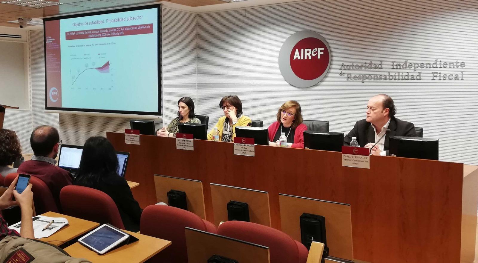 La presidenta interina de la AIReF, Cristina Herrero