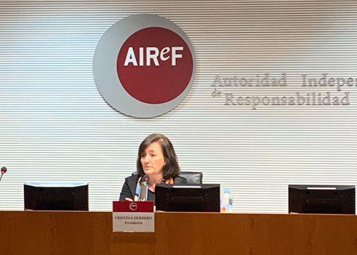 Cristina Herrero presenta el informe APE en la AIREF